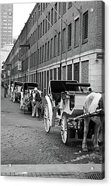 Waiting For Work Acrylic Print by Kristine Patti