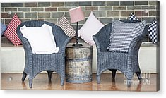 Waiting Room With Two Armchairs Acrylic Print by Chavalit Kamolthamanon