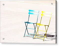 Waiting Together Acrylic Print by Anca Jugarean