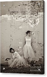 Waiting Together Acrylic Print by Sherry Davis