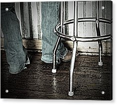 Waitress In Boots Acrylic Print by Chris Berry
