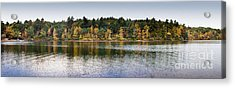Walden Pond Panorama I Acrylic Print by Thomas Marchessault