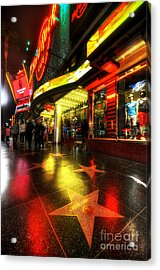 Walk Of Fame Acrylic Print by Yhun Suarez