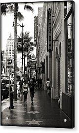 Walking In La Acrylic Print by Ricky Barnard
