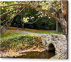 Walking In The Brisk Autumn Air Acrylic Print