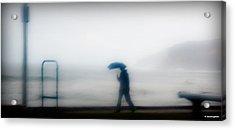 Walking In The Rain Acrylic Print by Christoph Mueller
