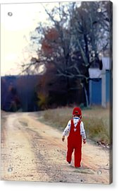 Walking On Pawpaw's Road Acrylic Print by KG Thienemann