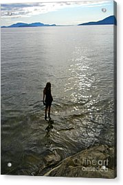 Walking On The Tide Acrylic Print