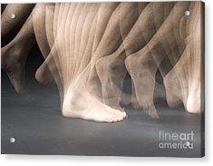Walking Acrylic Print by Ted Kinsman