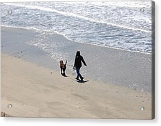Walking The Dog Acrylic Print by Carolyn Donnell