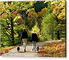 Walking The Dogs Acrylic Print
