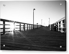 Walking The Planks Sunrise Acrylic Print by Betsy Knapp