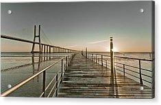 Walkway And Bridge Acrylic Print by Landscape photography