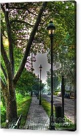 Walkway Down Riverside Drive Acrylic Print
