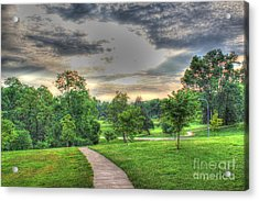 Walkway In A Park Acrylic Print