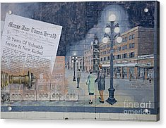 Wall Art Moose Jaw 2 Acrylic Print by Bob Christopher
