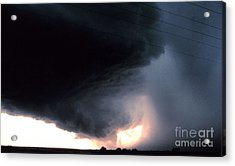 Wall Cloud With Precipitation Acrylic Print by Science Source