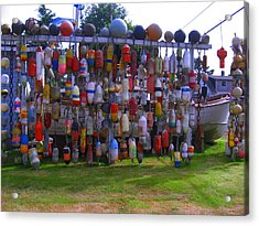 Wall Of Floats Acrylic Print by Kym Backland