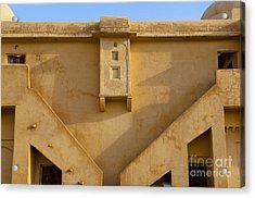 Wall Of The Amber Fort Acrylic Print by Inti St. Clair