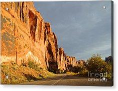 Wall Street Cliff Near Moab Acrylic Print by Gary Whitton
