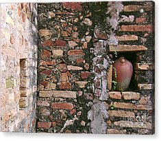 Wall With Vessel Acrylic Print by Laurel Fredericks
