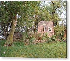 Walnut Grove School Ruins Acrylic Print