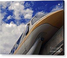 Walt Disney World - Monorail Yellow Acrylic Print by AK Photography