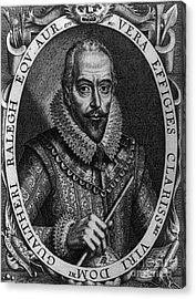 Walter Raleigh, English Courtier Acrylic Print by Photo Researchers
