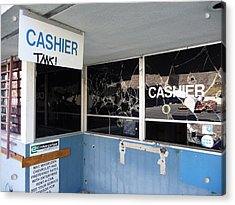 Wanted Cashier  Acrylic Print by Paul Washington
