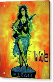 War Goddess Acrylic Print by Michelle Dallocchio