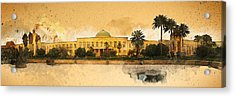 War In Iraq Sadaam's Palace Acrylic Print by Jeff Steed