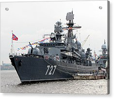 War Ship Acrylic Print by Yury Bashkin