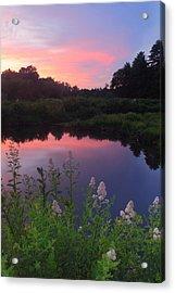 Ware River Summer Sunset Acrylic Print