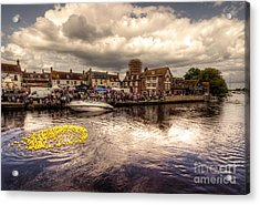 Wareham Duck Race Acrylic Print by Rob Hawkins