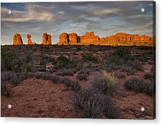 Warm Glow Over Arches Acrylic Print by Andrew Soundarajan