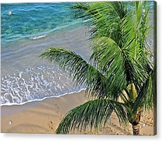Acrylic Print featuring the photograph Warm Maui Waters Lapping Ashore by Kirsten Giving
