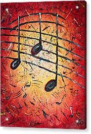 Warm Notes Acrylic Print by Paul Bartoszek