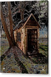 Warned Acrylic Print by Cindy Roesinger