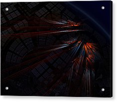 Warp 8 Acrylic Print by Nafets Nuarb