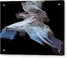 Acrylic Print featuring the digital art Warp Speed by John Pangia