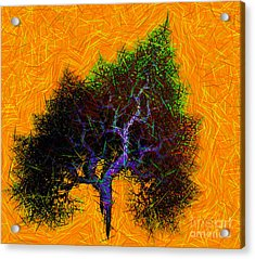 Was A Crooked Tree  Grunge Art Acrylic Print