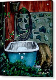 Wash Before Entering Acrylic Print