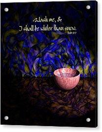 Wash Me Acrylic Print by Christopher Gaston