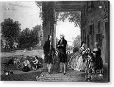 Washington And Lafayette, Mount Vernon Acrylic Print by Library of Congress