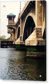 Washington Bridge Acrylic Print by John Scates