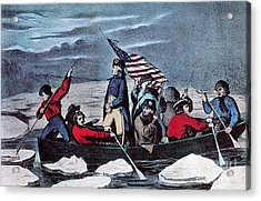 Washington Crossing The Delaware, 1776 Acrylic Print by Photo Researchers
