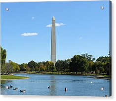Washington Monument In Summer Acrylic Print by