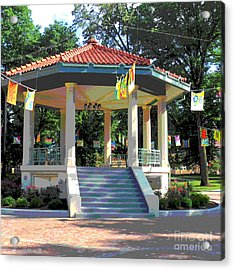 Washington Park Bandstand Acrylic Print by Jennifer Kelly