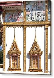 Wat Kan Luang Ubosot Windows Dthu189 Acrylic Print by Gerry Gantt