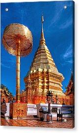 Wat Phrathat Doi Suthep Acrylic Print by Adrian Evans